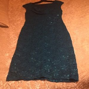 Connected Apparel Turquoise Dress Size 10